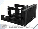 "Evercool ARMOR Dual 5.25"" Drive Bay to Triple 3.5"" HDD Cooling Box (HD-AR-R-BK)"