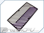 Primochill Carbon BiColor 2-Layer Dual 120mm Rad Grillz - White/Purple