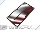 Primochill Carbon BiColor 2-Layer Dual 120mm Rad Grillz - White/Red