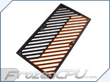 Primochill Carbon BiColor 2-Layer Dual 140mm Rad Grillz - Black/Orange