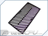 Primochill Carbon BiColor 2-Layer Dual 140mm Rad Grillz - Black/Purple