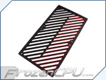 Primochill Carbon BiColor 2-Layer Dual 140mm Rad Grillz - Black/Red