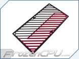 Primochill Carbon BiColor 2-Layer Dual 140mm Rad Grillz - White/UV Pink