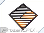 Primochill Carbon BiColor 2-Layer Single 120mm Rad Grillz - Black/Orange