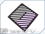 Primochill Carbon BiColor 2-Layer Single 120mm Rad Grillz - Black/Purple
