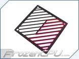 Primochill Carbon BiColor 2-Layer Single 120mm Rad Grillz - White/UV Pink
