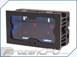 Monsoon Series Two Dual Bay Reservoir w/ Quick Change LED Control - Matte Black w/ Black Trim (M2-DBR-MB)
