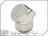 EK CSQ G1/4 Thread 45° Fitting Adapter - Nickel (EK-CSQ Adapter 45° G1/4 Nickel)