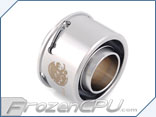 "Bitspower Premium G1/4 Thread 1/2"" ID x 3/4"" OD Quick Compression Fitting - Silver (BP-PCPF-QCC5)"