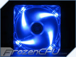 Yate Loon Clear 120mm x 25mm Blue LED Fan - Low Speed (D12SL-124B)
