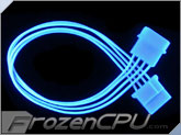 FrozenCPU ConnectRight Blue UV Reactive 4-pin Extension Cable