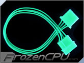 FrozenCPU ConnectRight Green UV Reactive 4-pin Extension Cable