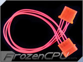FrozenCPU ConnectRight Red UV Reactive 4-pin Extension Cable