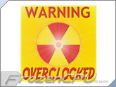 FrozenCPU Warning Overclocked Radiant Nuclear Symbol Yellow & Red Case Badge