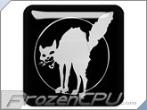 FrozenCPU Chrome Anarchist Cat - Black - Case Badge