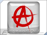 FrozenCPU Chrome Anarchist - Red - Case Badge