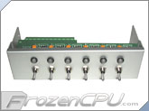 FrozenCPU Dual Voltage 6 Port Baybus w/ Blue/Red LED