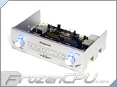 Bitspower XPIII 5.25 HDD Status Display / Fan Control Panel - Silver w/ Blue LED