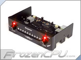 Bitspower XPIII 5.25 HDD Status Display / Fan Control Panel - Black w/ Red LED