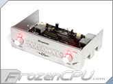Bitspower XPIII 5.25 HDD Status Display / Fan Control Panel - Silver w/ Red LED