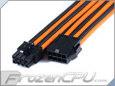 MaxFinder Triple Braided 8-Pin 12V EPS Motherboard Extension Cable - 25cm - Black / Orange (MF-BOM-C08-25)