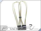 "Mod/Smart Kobra Cable MAX 4-Pin EZ-Pinch Molex Extension Cables - 16"" - Tan"