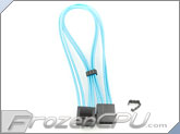 "Mod/Smart Kobra Cable MAX 4-Pin EZ-Pinch Molex Extension Cables - 16"" - UV Aqua Blue"
