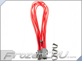 "Mod/Smart Kobra Cable MAX 8-Pin PCI-E VGA Extension Cables - 24"" - Red"