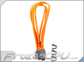"Mod/Smart Kobra Cable MAX 8-Pin PCI-E VGA Extension Cables - 16"" - UV Orange"