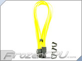 "Mod/Smart Kobra Cable MAX 8-Pin PCI-E VGA Extension Cables - 16"" - UV Yellow"