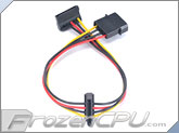Akasa 4-Pin Molex to Dual SATA Power Adapter Cable - 300mm (AK-CBPW01-30)