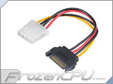 Akasa 15-Pin SATA Power to 4-Pin Molex Adapter Cable - 150mm (AK-CBPW03-15)