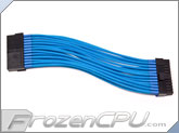 "Single Braid Sleeved 12"" 24 Pin ATX Extension Cable"