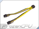 Premium Bitcoin Mining 18AWG EPS 12V 8-Pin TO 2x PCI-E 6+2-Pin Splitter Cable (CAB264)