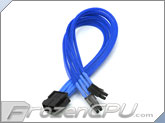 ModRight CableRight Single Braid M/B 8-Pin to 4+4 12V EPS Extension - Blue