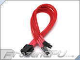 ModRight CableRight Single Braid M/B 8-Pin to 4+4 12V EPS Extension - Red