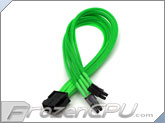 ModRight CableRight Single Braid M/B 8-Pin to 4+4 12V EPS Extension - Green