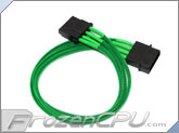 ModRight CableRight Single Braid 4-Pin Molex Fan Extension - Green