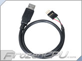 Akasa USB Internal to External Extension Cable - 400mm (EXUSBIE-40)
