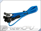 Phobya Y Cable Splitter - 3-Pin to 6x 3-Pin - UV Blue