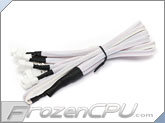 Phobya Y Cable Splitter - 3-Pin to 6x 3-Pin - White