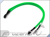 Phobya Y Cable Splitter - 3-Pin to 2x 3-Pin - UV Green