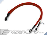 Phobya Y Cable Splitter - 3-Pin to 2x 3-Pin - UV Red