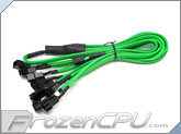 Phobya Y Cable Splitter - 3-Pin to 9x 3-Pin - UV Green