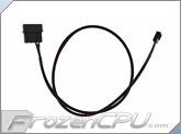 "ModMyToys 4-Pin Male to 3-Pin Female Cable Adapter - 24"" - Sleeved Black (MMT-4M-3F-24-BK)"