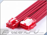MaxFinder Triple Braided 8-Pin 12V EPS Motherboard Extension Cable - 25cm - Blood Red (MF-ORB-C08-25)
