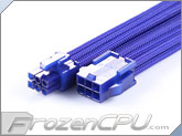 MaxFinder Triple Braided 6-Pin PCI-E VGA Extension Cable - 25cm - Blue (MF-OBL-P06-25)