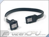 "Black SATA 3.0 10"" Cable w/ Latch - Right Angle to Straight (SCIII-10A-BK)"