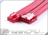 MaxFinder Triple Braided 8-Pin 12V EPS Motherboard Extension Cable - 25cm - Metallic Red (MF-MRE-C08-25)