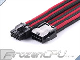 MaxFinder Triple Braided 8-Pin 12V EPS Motherboard Extension Cable - 25cm - Black / Blood Red (MF-OBB-C08-25)